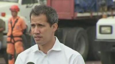 Juan Guaidó ofrece amnistía a militares y ordena dejar entrar a la ayuda humanitaria