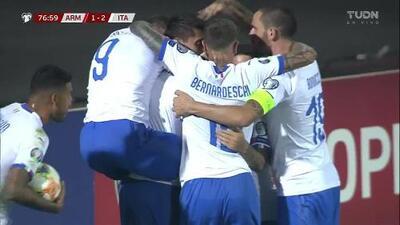 ¡GOOOL! Lorenzo Pellegrini anota para Italy