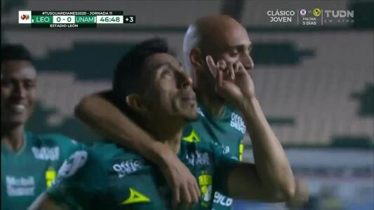 ¡GOOOL! Ángel Mena anota para León