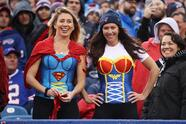 BUFFALO, NY - OCTOBER 30: Fans dress up for Halloween at the New England Patriots and Buffalo Bills football game at New Era Field on October 30, 2016 in Buffalo, New York. (Photo by Tom Szczerbowski/Getty Images)