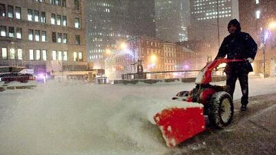 La mega tormenta frena Nueva York