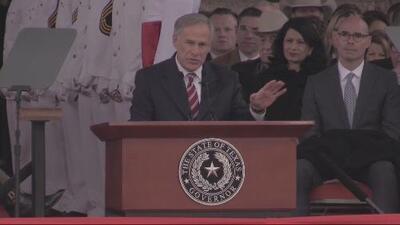 Greg Abbott juramenta para su segundo mandato como gobernador de Texas