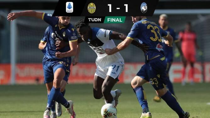 Atalanta igualó con Verona y ve más lejos el título de la Serie A