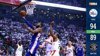 Los 76ers ganan de visita y empatan la serie ante los Raptors