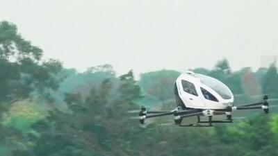 Con éxito se realizó el primer vuelo de un dron capaz de transportar personas en China