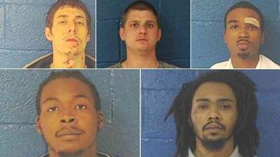 Dan a conocer identidades de los 5 reclusos que escaparon de la cárcel del Condado de Nash.