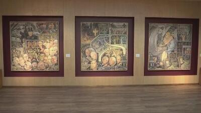 Exhiben valiosas obras de Diego Rivera confiscadas a la exlideresa magisterial Elba Esther Gordillo