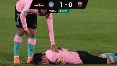 Getafe vence a un Barça que no supo aprovechar la derrota del Madrid