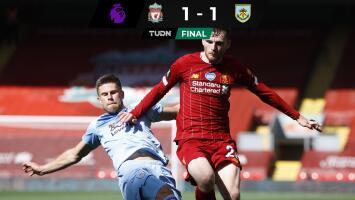 El campeón de Inglaterra  se relaja; Liverpool empató con el Burnley