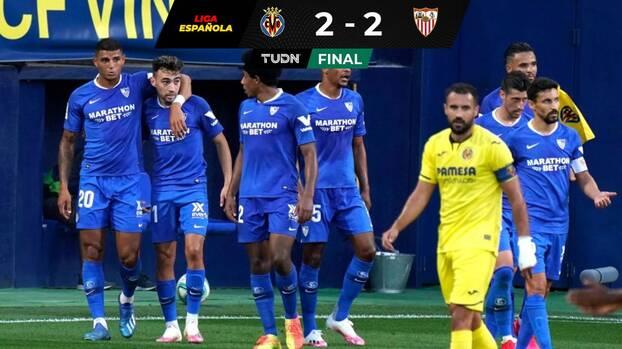 Villarreal y Sevilla empataron en un vibrante partido
