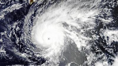 Así sería la trayectoria del huracán Lane en Hawaii
