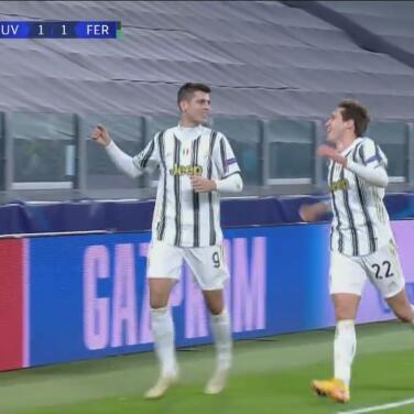 ¡Gol con suerte! Morata pone el 2-1 para la Juventus