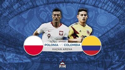 Colombia y Polonia a vencer o morir para soñar con la clasificación a octavos de final
