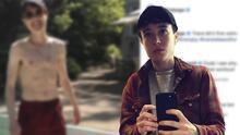 Elliot Page publica su primera foto sin camisa desde que anunció que era trans