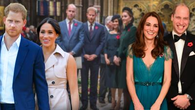 Los príncipes William y Harry, Kate Middleton y Meghan Markle volvieron a unirse y sabemos por qué