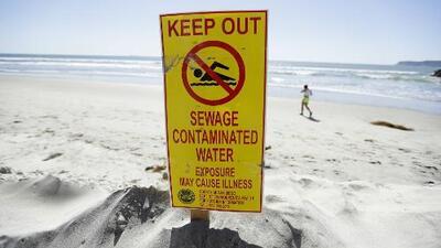 Extienden el cierre de playas en California por bacterias y aguas residuales que llegan desde el Río Tijuana