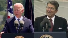 ¿Ha plagiado Biden a Reagan? Acusan al presidente de usar la misma broma que hizo uno de sus predecesores