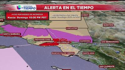 Regresan los fuertes vientos y las amenazas de incendios en el sur de California
