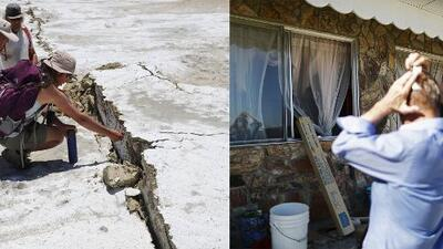 Geólogos investigan efectos en la tierra tras los terremotos de California y ciudades afectadas se levantan lentamente