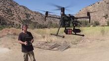 Desarrolló un dron con alta tecnología y ahora salva animales en áreas de desastre