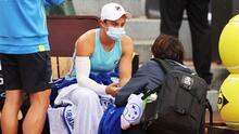 Ashleigh Barty abandona por lesión; es duda para el Roland Garros