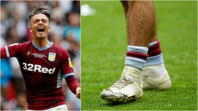Jack Grealish se encomendó a sus botas de la suerte para lograr el ascenso del Aston Villa