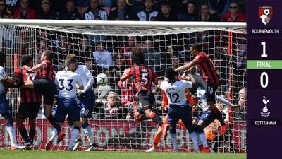 ¡Frustración y derrota! Tottenham perdió en su visita al Bournemouth