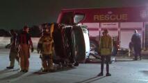 Se salvan de morir tras volcar una camioneta al este de Houston