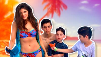 Ana Bárbara se fue a disfrutar del sol y el mar en familia