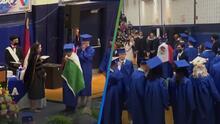 (VIDEO) Directora se niega a entregar el diploma a estudiante que llevaba la bandera de México en su graduación de High School