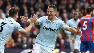 'Chicharito' se reconcilió con el gol en el empate del West Ham frente a Crystal Palace