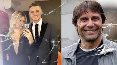 ¡Icardi y Wanda quedarían fuera del Inter! Antonio Conte llegaría a disciplinar a los neroazzurri
