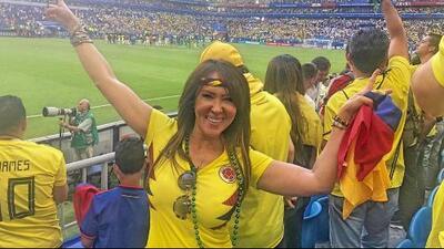 De Colombia para el mundo: Tanya Charry armó tremenda fiesta en Rusia por el triunfo de los cafeteros