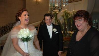 Fan de Univision.com en la boda de Angélica Vale
