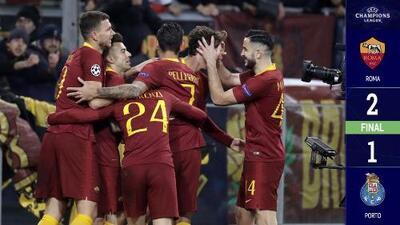 Roma 2-1 Porto - GOLES Y RESUMEN – IDA OCTAVOS DE FINAL - UEFA Champions League
