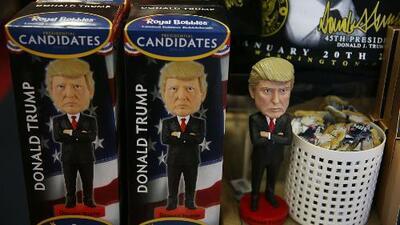 La mercancía con la imagen de Donald Trump se vende en Nueva York como pan caliente