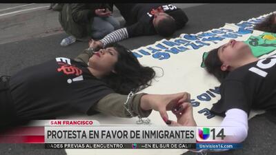 Protestan en SF contra redadas y deportaciones
