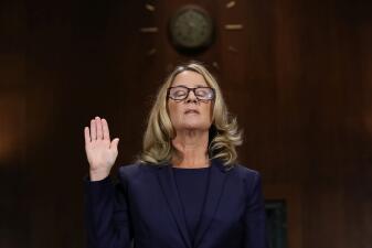 En fotos: Así transcurrió el interrogatorio a Christine Blasey Ford por el Comité Judicial del Senado