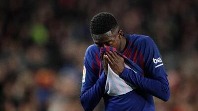 Mala noticia para el Barcelona: Dembélé estará casi un mes de baja