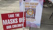 Un grupo de padres pide que no sea obligatorio el uso de la mascarilla en las escuelas