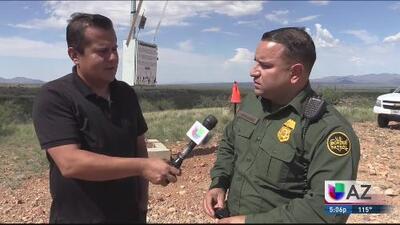 Patrulla Fronteriza trabaja para rescatar a inmigrantes de las altas temperaturas en el desierto