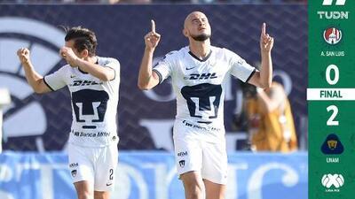 Pumas reacciona y supera a Atlético de San Luis