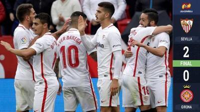 Sevilla vence al Girona y vuelve al segundo puesto de España