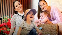Gael dejó atónita a su mamá y Blu Jerusalema improvisó: Ana Patricia y Sharon Fonseca celebran Pascua con sus hijos