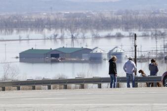 Fuertes lluvias más nieve derretida: las históricas inundaciones en Nebraska, Iowa y otros estados del Medio Oeste
