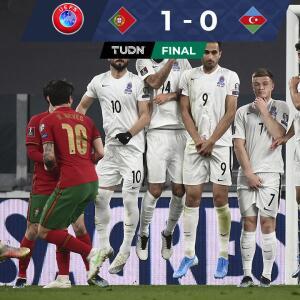 Portugal y CR7 no lucen, apenas ganan 1-0 con autogol de Azerbaiyán