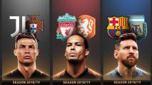 Messi, Van Dijk y Ronaldo contenderán por The Best