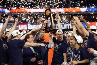 Así festejaron los Virginia Cavaliers tras conquistar el título en la Final del March Madness