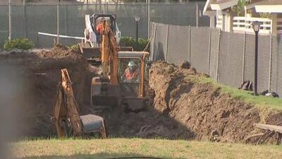 Labores para reparar un masivo hundimiento en La Habra podrían verse afectadas por tres tormentas