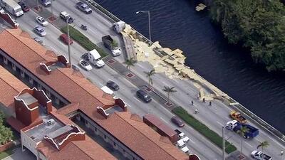 Tráfico cerrado en Okeechobee Road a la altura de Miami Springs sentido este